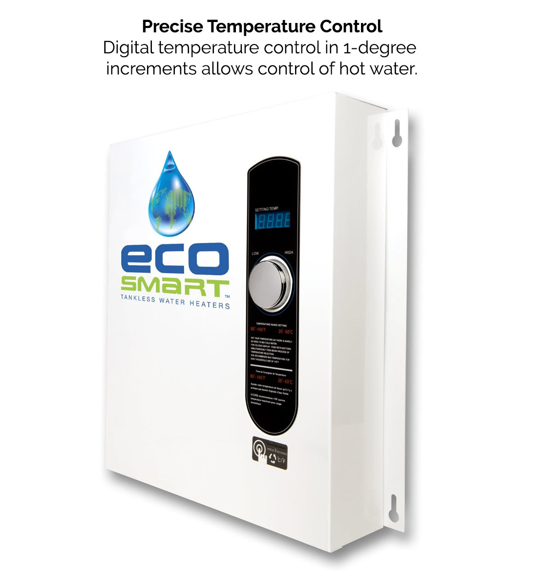 Ecosmart Tankless Water Heater Precise Temperature Control