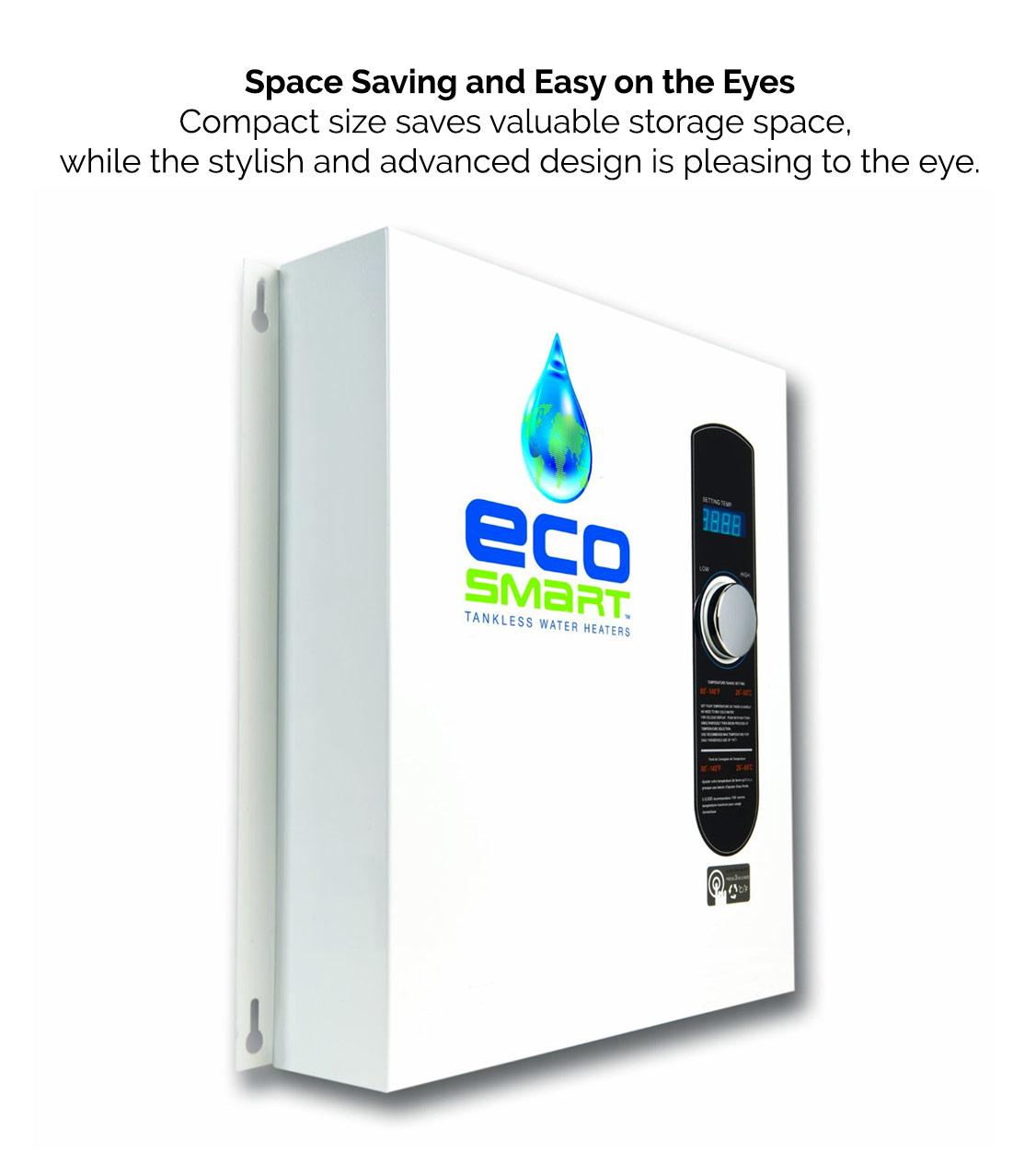Ecosmart Tankless Water Heater Space Saving Design